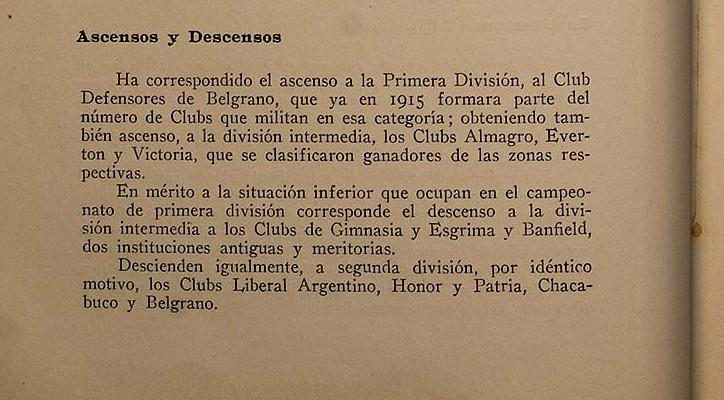 1917 - segunda division - memoria y balance 1917 afa