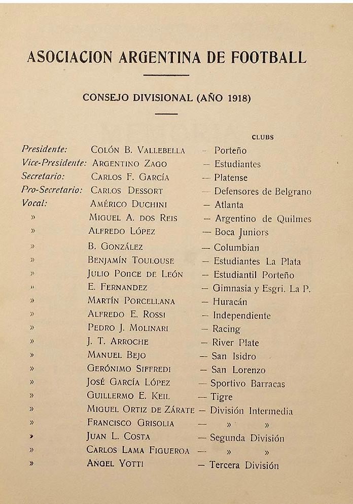 1918- consejo divisional