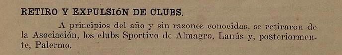 1920 - primera division - memoria y balance 1920 afa