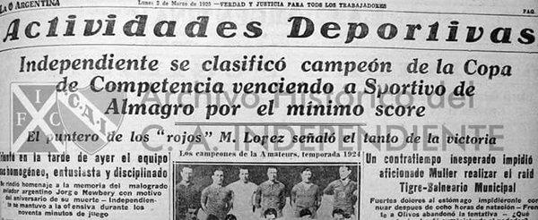 1924 copa competencia - final