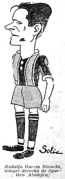 1926 - caricatura jugador bianchi