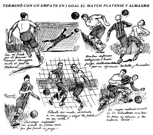 1927 Almagro vs Platense - diaro La Nacion
