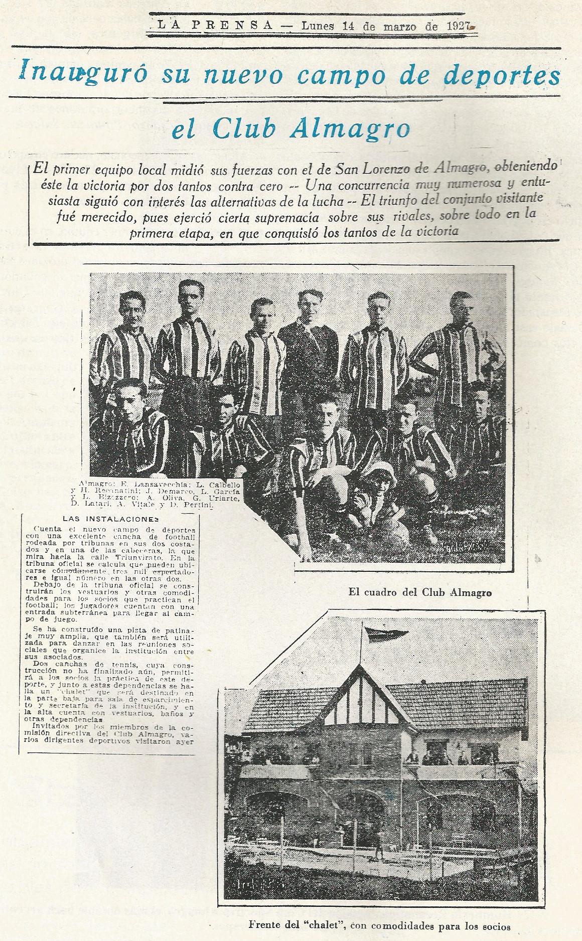 1927 inauguracion estadio