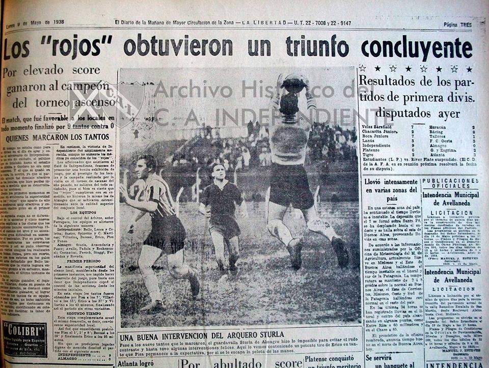 1938 - Independiente vs Almagro