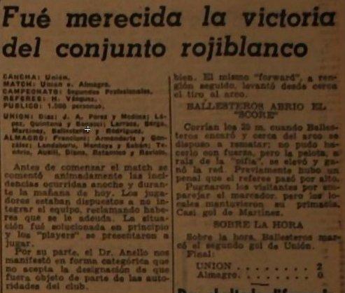 1943 Union vs Almagro - Diario Litoral