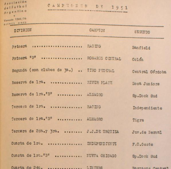 1951 - campeones