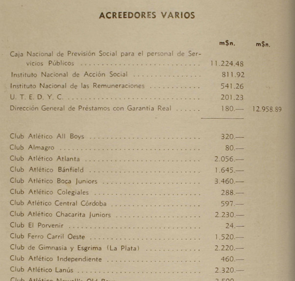 1956 - acreedores