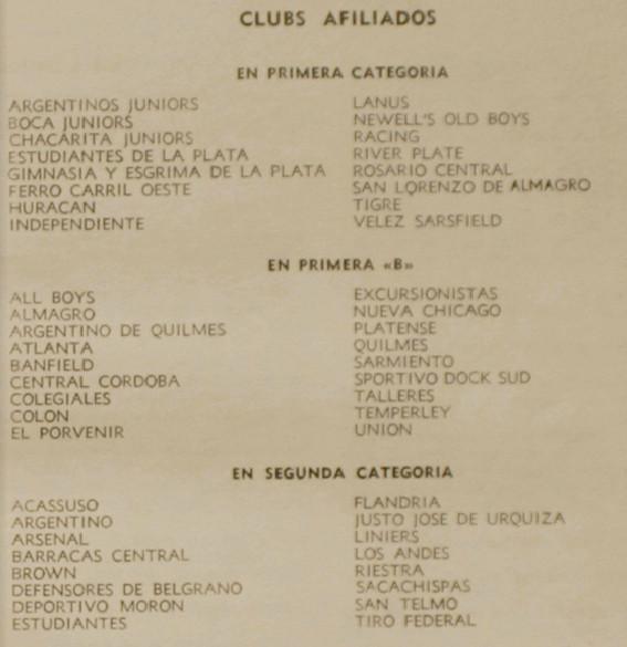 1956 - clubes afiliados