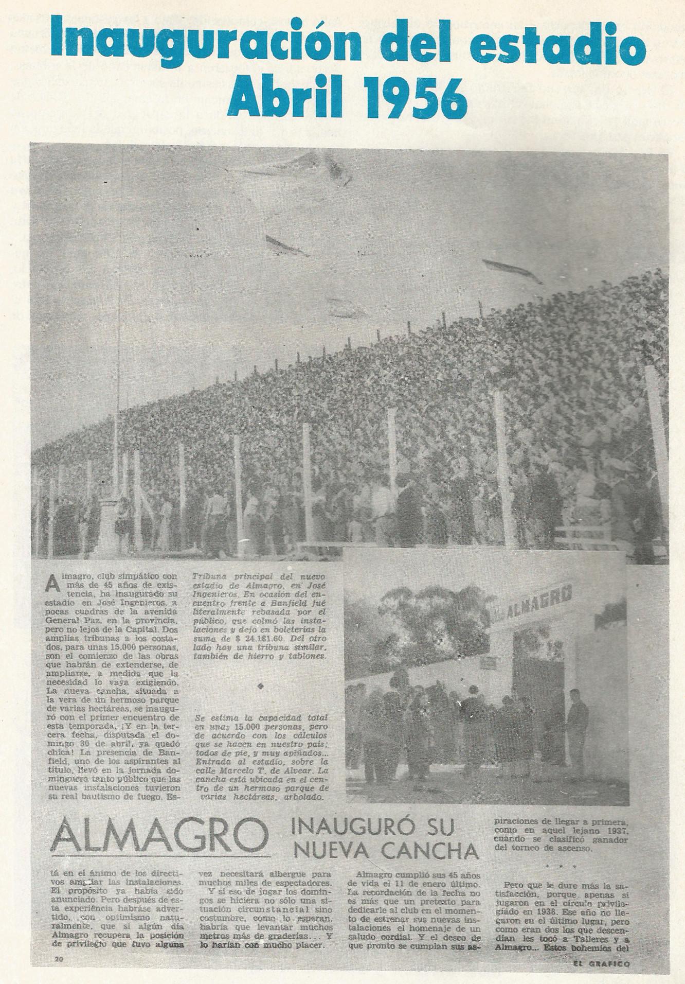 1956 inauguracion estadio