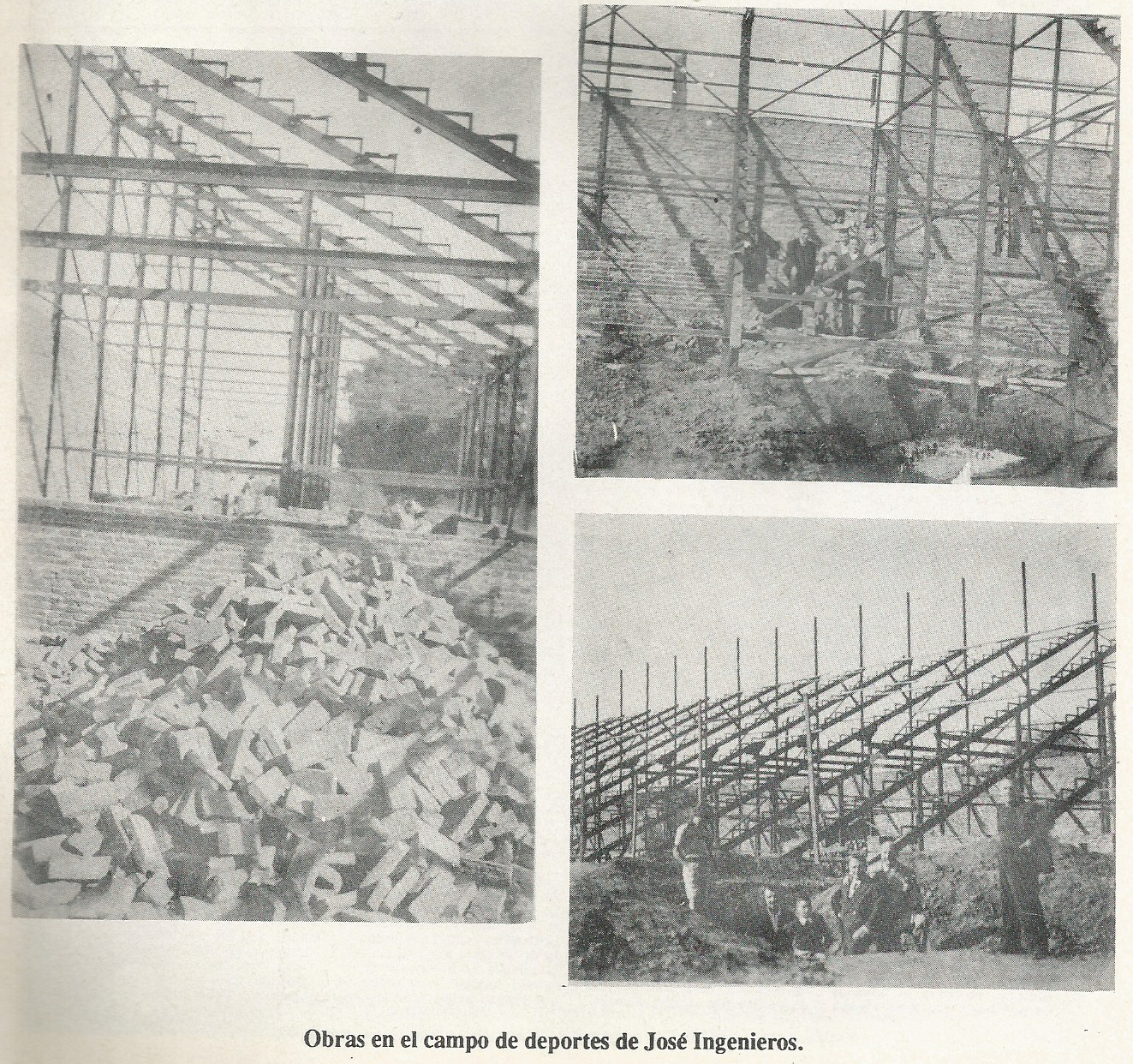 1956 - obras en el estadio