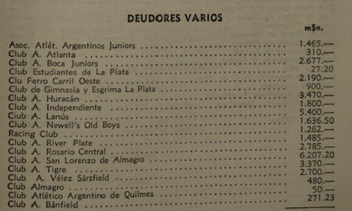 1957 - deudas varias