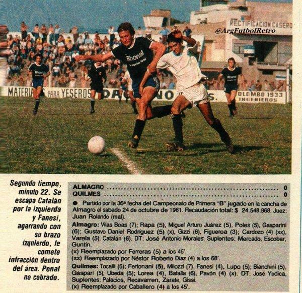 1981 - almagro - quilmes