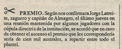 1988 - premios - saldos y retazos - revista solo futbol n140 07-03