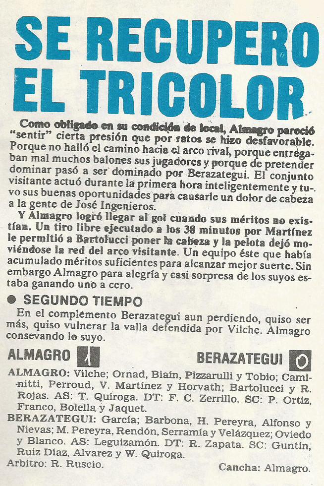 1990 - almagro vs berazategui