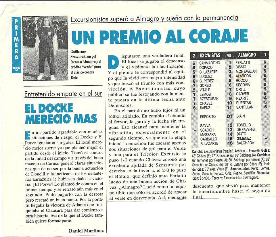 1994-95 - Excursionistas vs Almagro