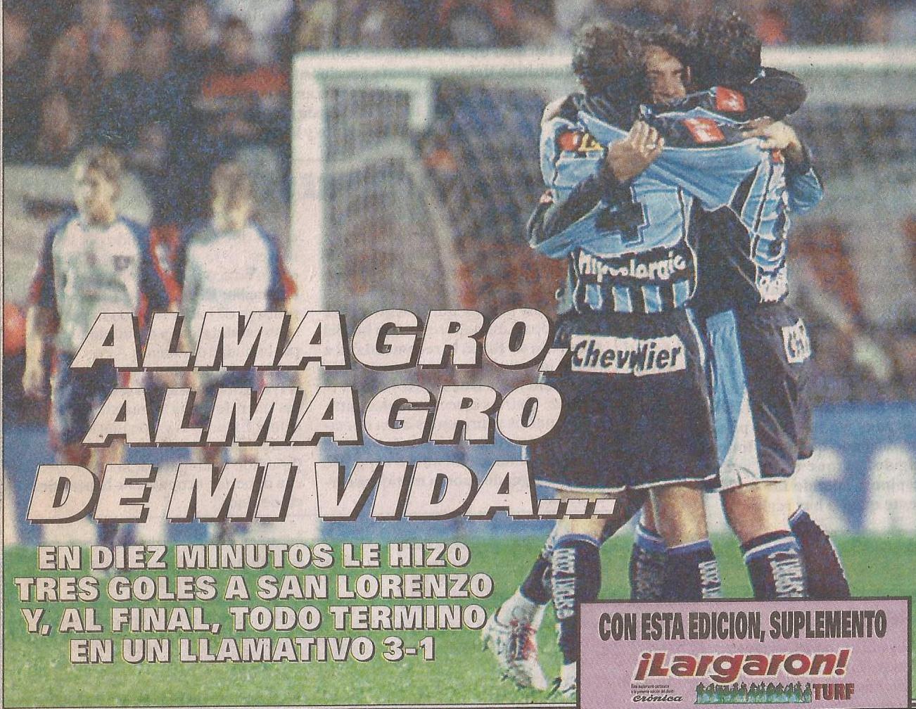 2004-05 Primera Division - Almagro vs San Lorezo - Diario Cronica