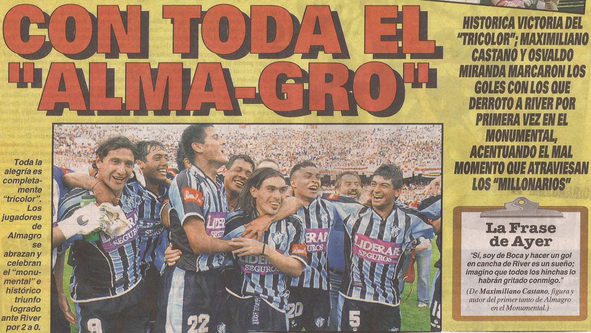 2004-05 Primera Division - River Plate vs Almagro - Diario Cronica