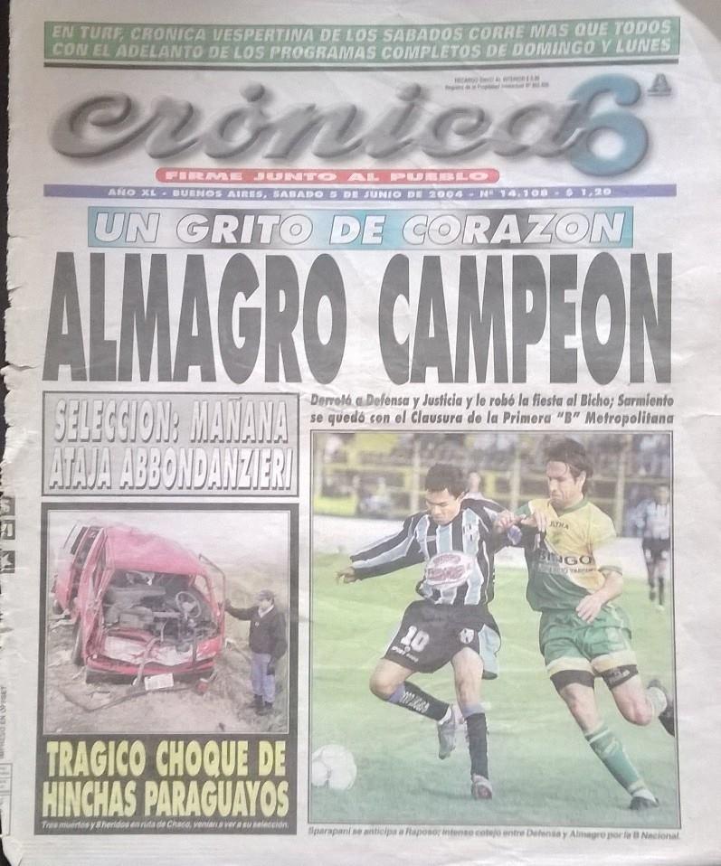 2004 - clausura - dyj - almagro campeon