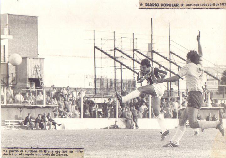 Año 1982 . Almagro 1 Comunicaciones 0 . Gol de Civitarese a los 44 ST
