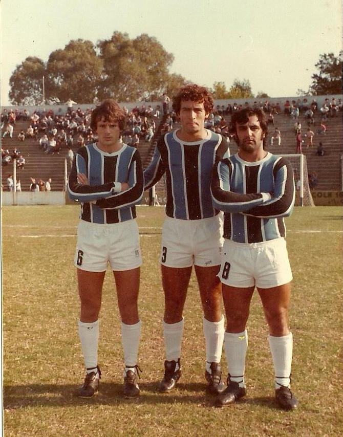 Año 1982 . Gadea , Omar Santorelli y Vicente Brunett