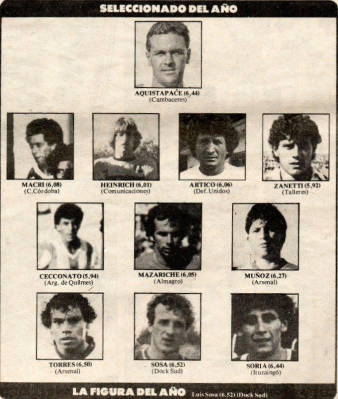 El Seleccionado de la C de Solo Fútbol. Año 1986