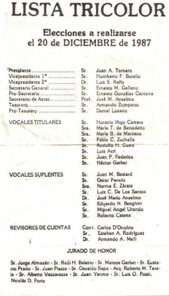lista tricolor