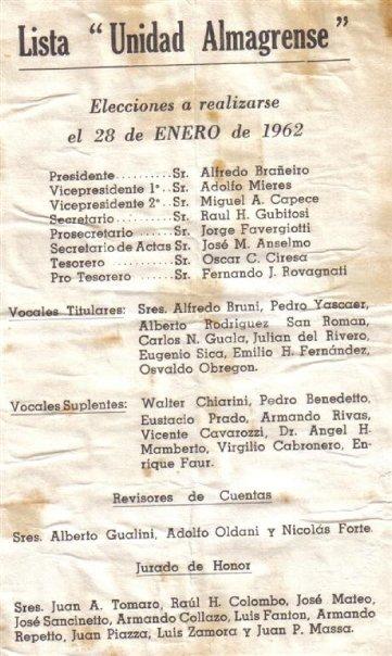 unidad almagrense 1962