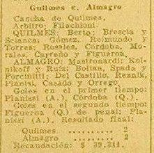 1958 QUILMES - ALMAGRO