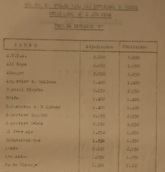 1964 - boletos invitados
