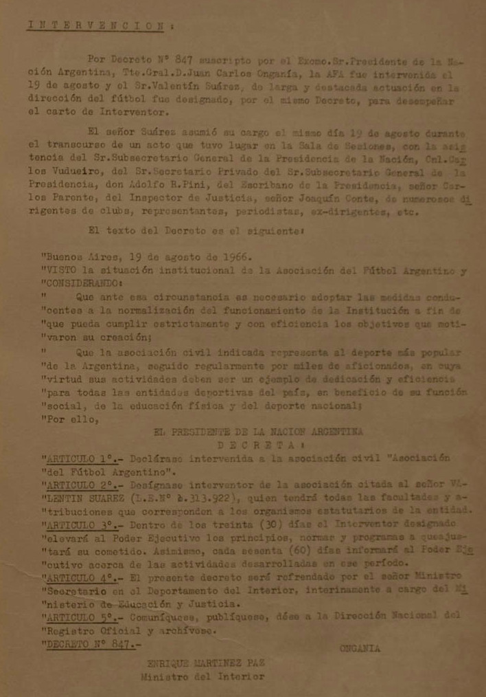 1966 - intervencion