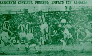 1980 Almagro iguala en Junin ante el lider Sarmiento
