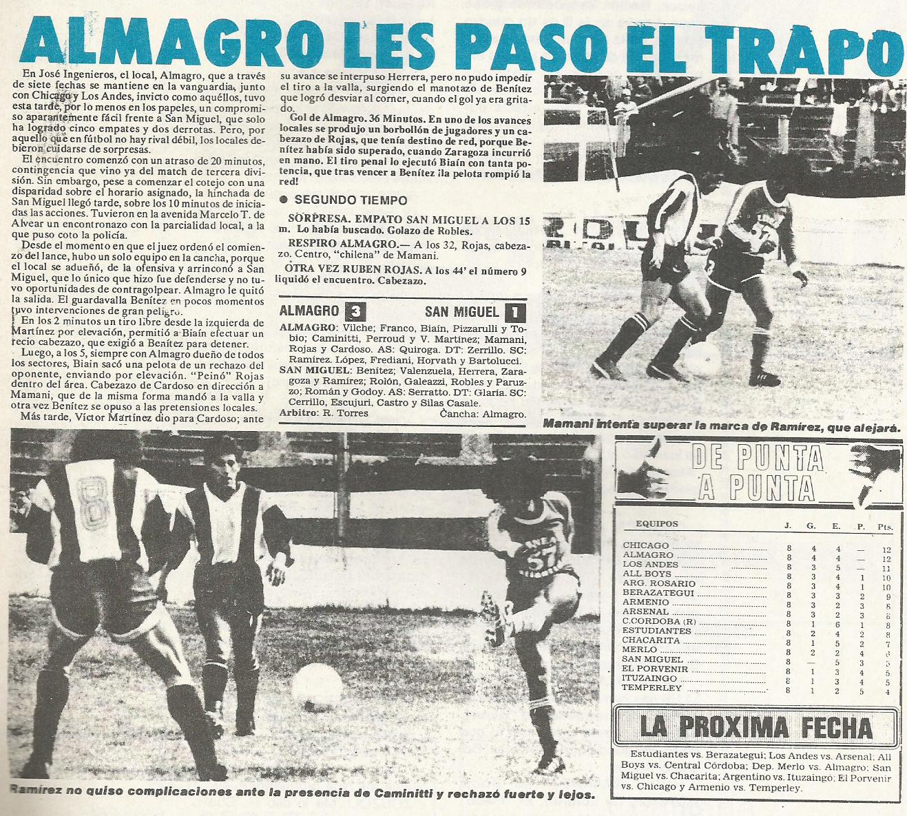 1990 - almagro vs san miguel