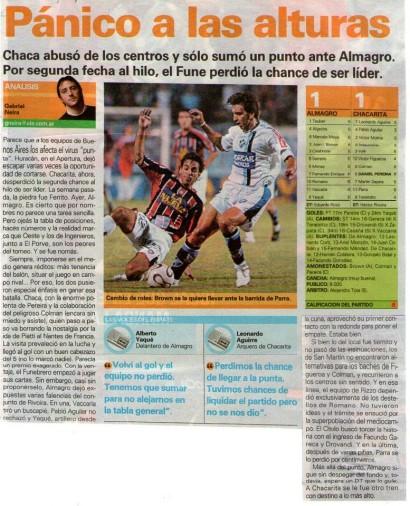 2005-06 Primera B nacional - 8ª fecha Clausura