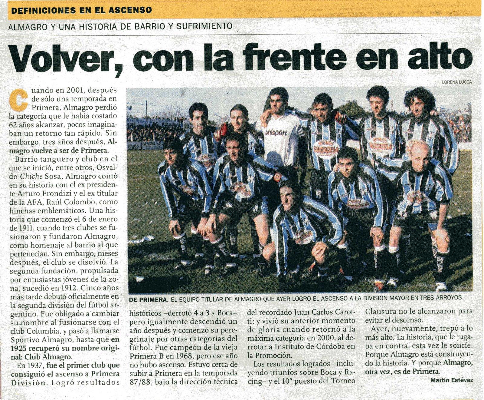 Almagro ASCENSO 2004